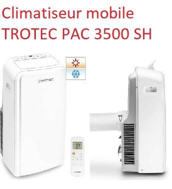 Climatiseur mobile TROTEC PAC 3500 SH